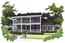 Plantation Style Home Design Plan: 61-133