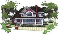 Farm Style Home Design Plan: 61-143