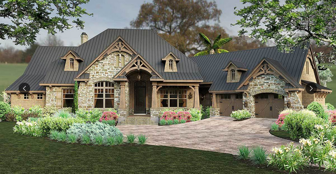 Mountain-or-rustic Style House Plans Plan: 61-161