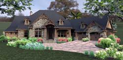 Mountain-or-Rustic Style Home Design Plan: 61-161