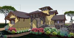 Tuscan Style House Plans Plan: 61-172