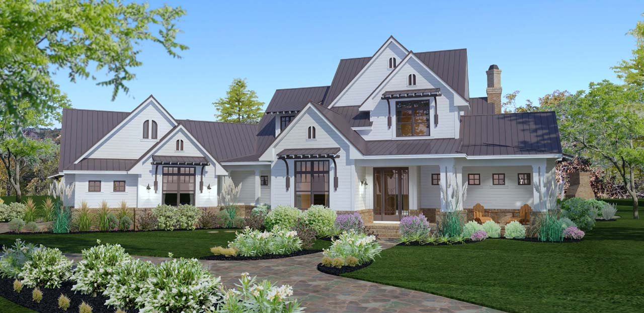 Farm Style Home Design Plan: 61-174
