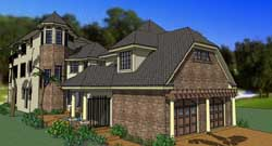 European Style House Plans Plan: 61-180
