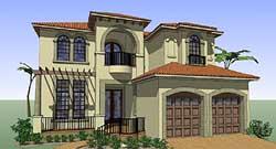 Mediterranean Style House Plans Plan: 61-185