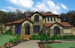 Tuscan Style Home Design Plan: 61-188