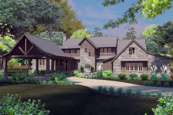 Mountain-or-rustic Style Floor Plans Plan: 61-191