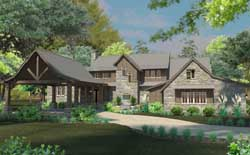 Mountain-or-Rustic Style Home Design Plan: 61-191