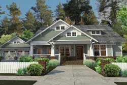 Craftsman Style Home Design Plan: 61-192
