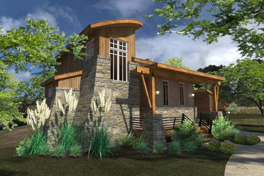 Modern Style House Plans Plan: 61-195