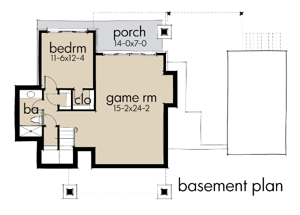 Lower Floor Plan: 61-195