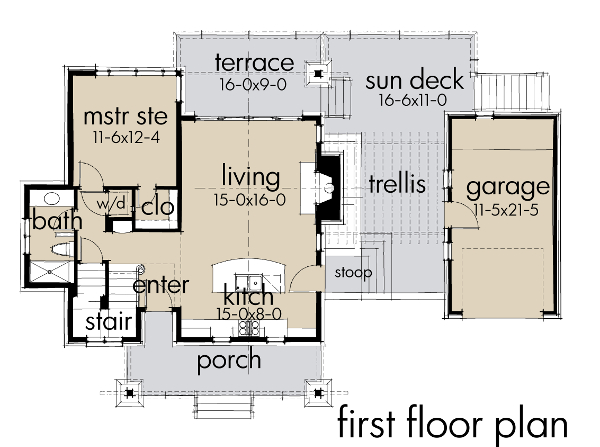 Main Floor Plan: 61-195