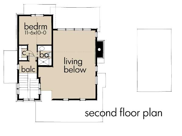 Upper/Second Floor Plan: 61-195