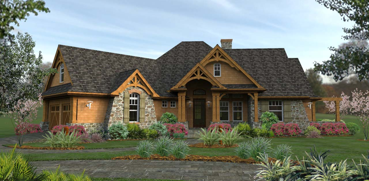 Craftsman Style Home Design 61-196