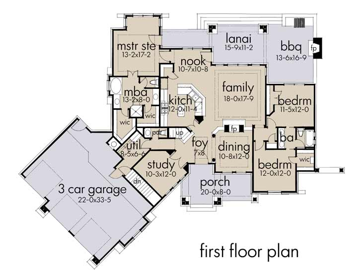 Main Floor Plan: 61-196
