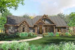 Craftsman Style Home Design Plan: 61-196