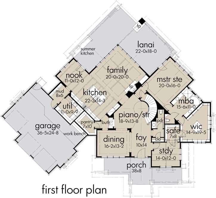 Main Floor Plan: 61-197