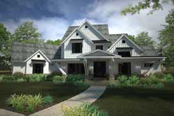 Modern-Farmhouse Style Floor Plans Plan: 61-197