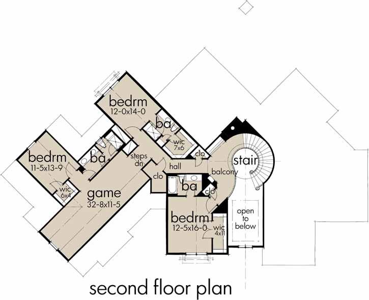Upper/Second Floor Plan: 61-197