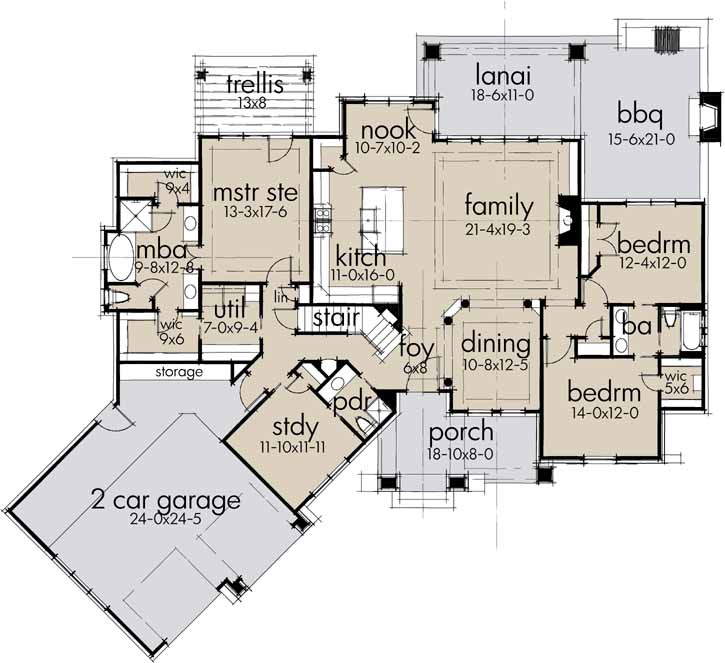 Main Floor Plan: 61-198