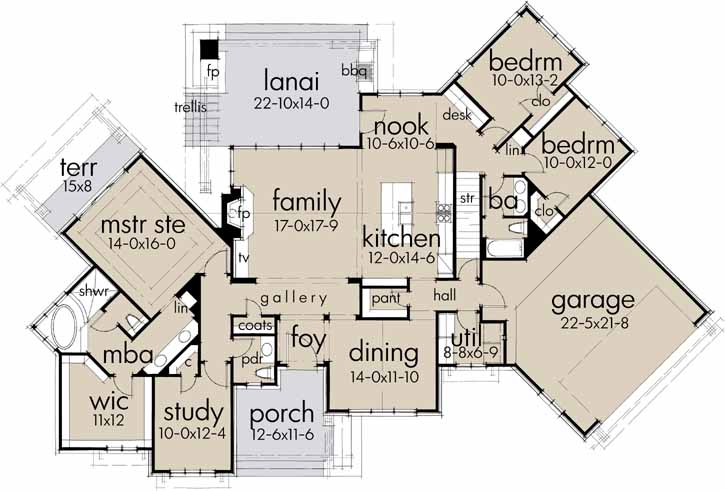 Main Floor Plan: 61-199