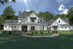 Modern-Farmhouse Style Home Design Plan: 61-200