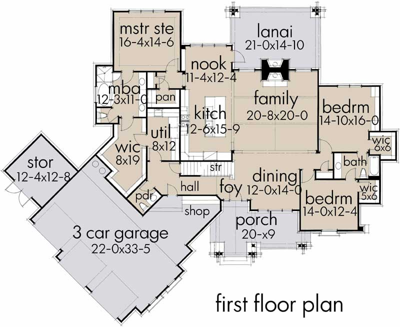 Modern-farmhouse House Plan - 3 Bedrooms, 2 Bath, 2662 Sq Ft ... on ranch home plans with large kitchen, ranch home plans with walkout basement, ranch home plans with carport, ranch home plans with wrap around porch, ranch home plans with pool, ranch home plans with open floor plan, ranch home plans with office, ranch style home plans with basement, room addition above two car garage, ranch home addition plans, ranch home plans with multiple gables, ranch home plans with loft, ranch home plans with study, ranch home plans with cathedral ceilings,