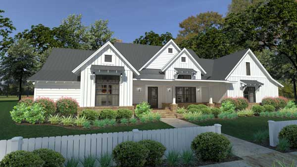 Modern-farmhouse Style Floor Plans Plan: 61-202