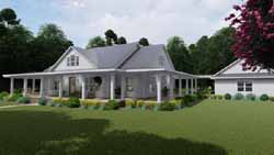 Modern-Farmhouse Style House Plans Plan: 61-203