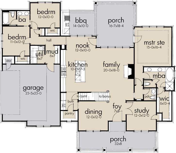 Main Floor Plan: 61-205
