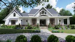 Modern-Farmhouse Style House Plans 61-206