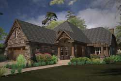 French-Country Style Floor Plans Plan: 61-209