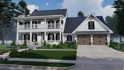 Modern-Farmhouse Style House Plans Plan: 61-210