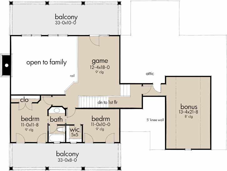 Upper/Second Floor Plan: 61-210