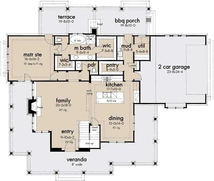 Main Floor Plan: 61-211