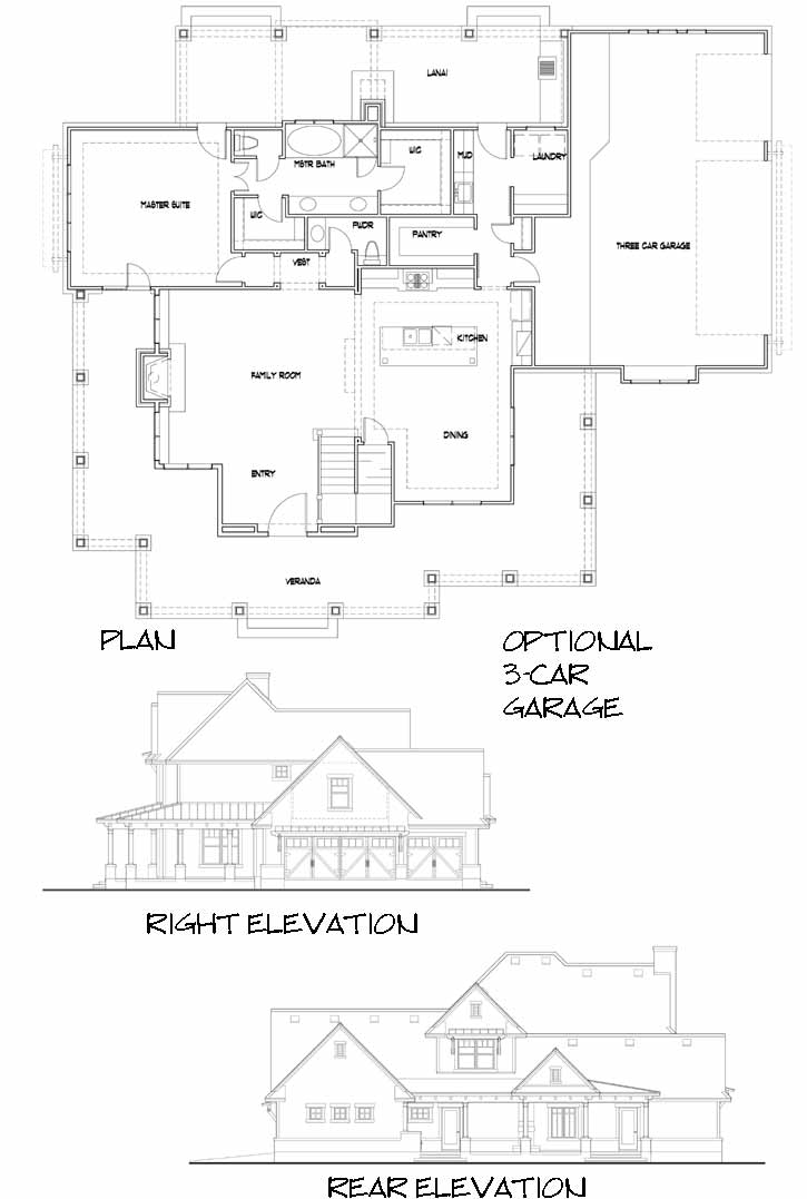 Modern-farmhouse Style House Plans Plan: 61-211