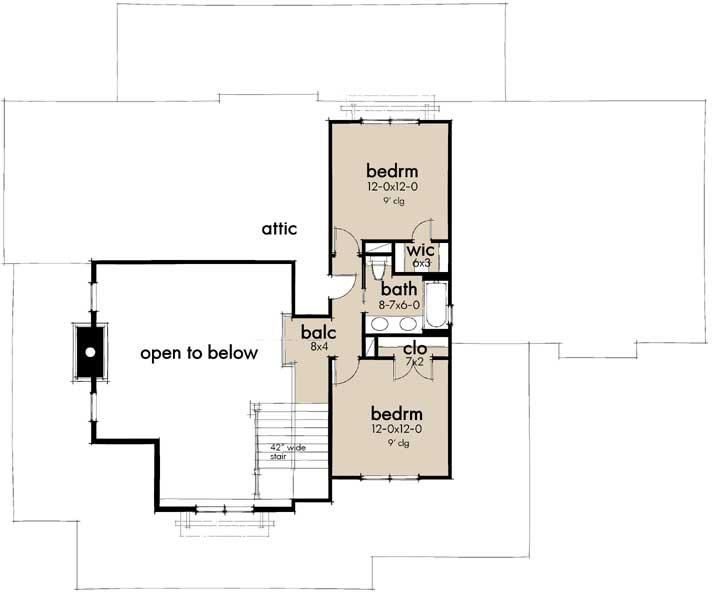 Upper/Second Floor Plan:61-211
