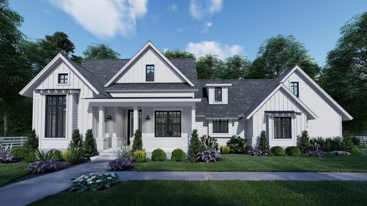 Modern-Farmhouse Style Floor Plans Plan: 61-212