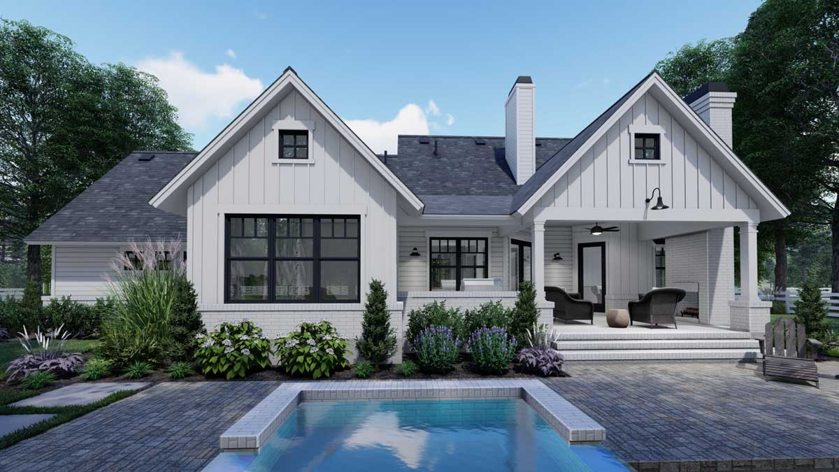 Modern-farmhouse House Plan - 3 Bedrooms, 2 Bath, 1486 Sq ...