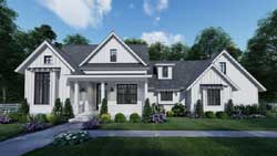 Modern-Farmhouse Style House Plans Plan: 61-212