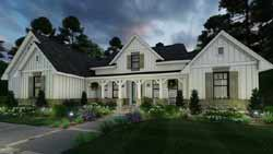Modern-Farmhouse Style House Plans Plan: 61-213