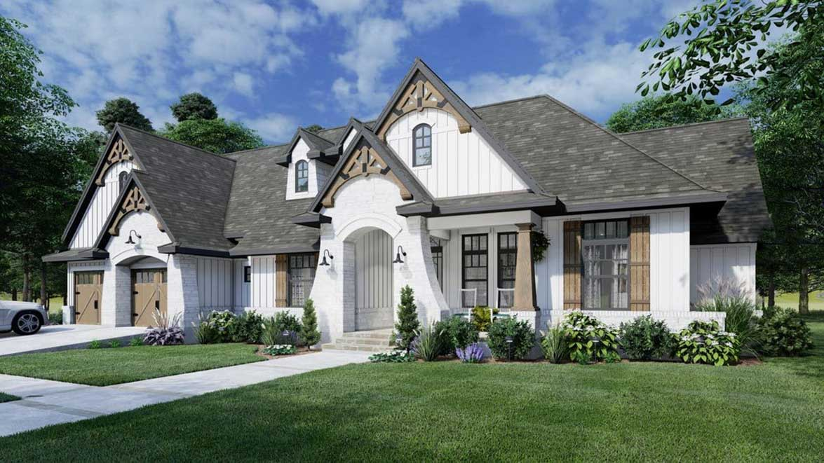 Farm Style House Plans Plan: 61-214