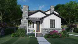 Cottage Style House Plans Plan: 61-215
