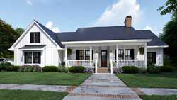 Modern-Farmhouse Style Floor Plans Plan: 61-216