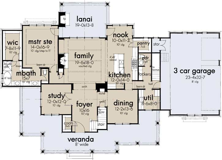 Main Floor Plan: 61-217