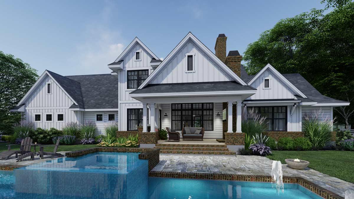 Modern-farmhouse Style House Plans