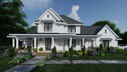 Modern-Farmhouse Style Floor Plans Plan: 61-217