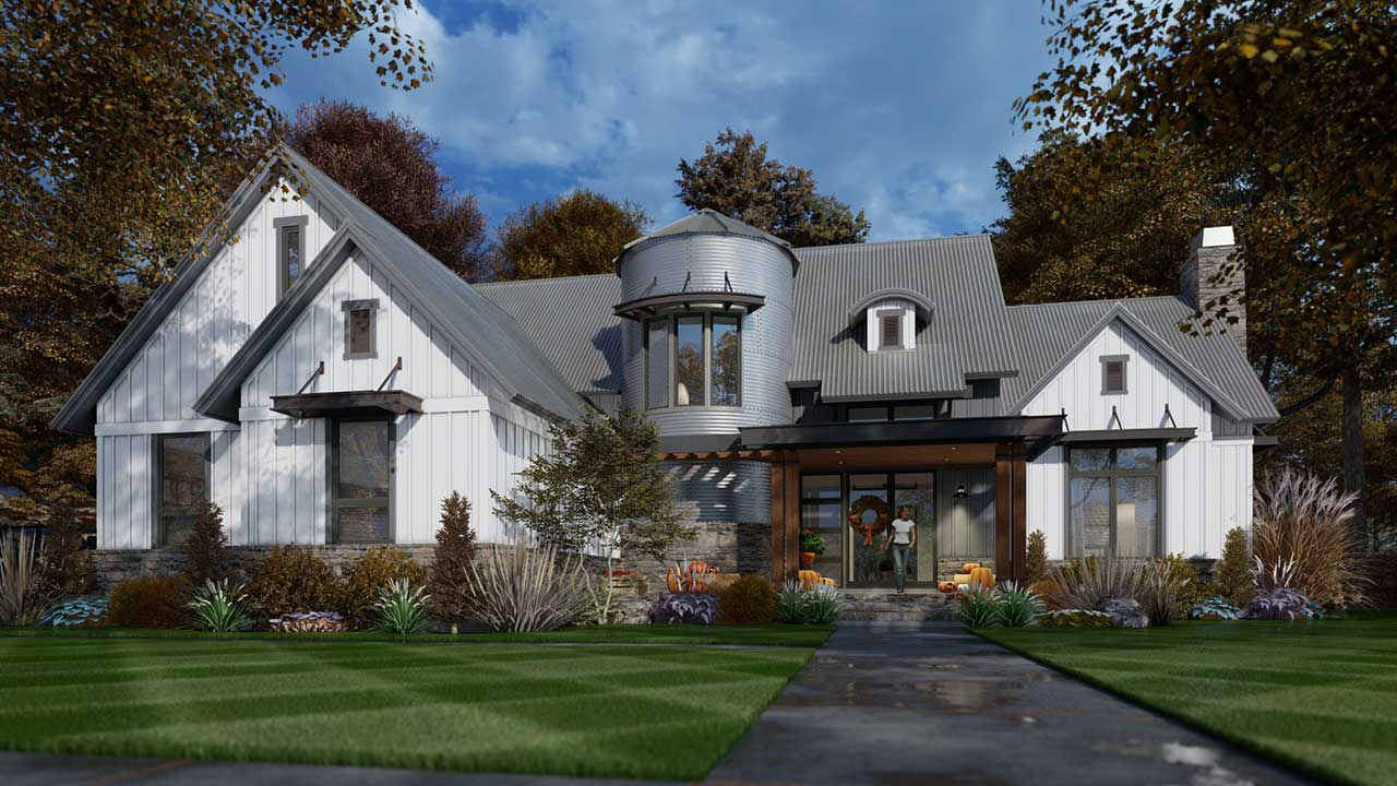 Modern-farmhouse Style House Plans Plan: 61-218