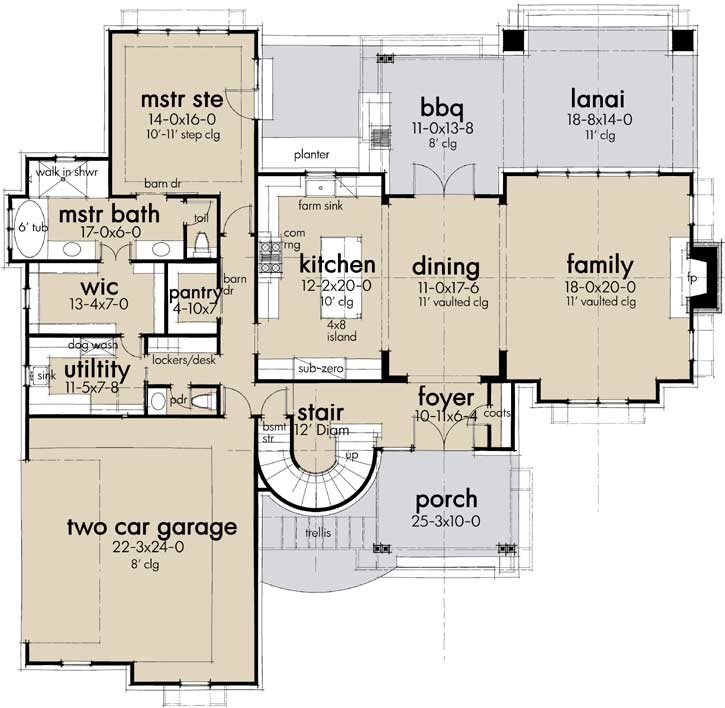 Main Floor Plan: 61-218