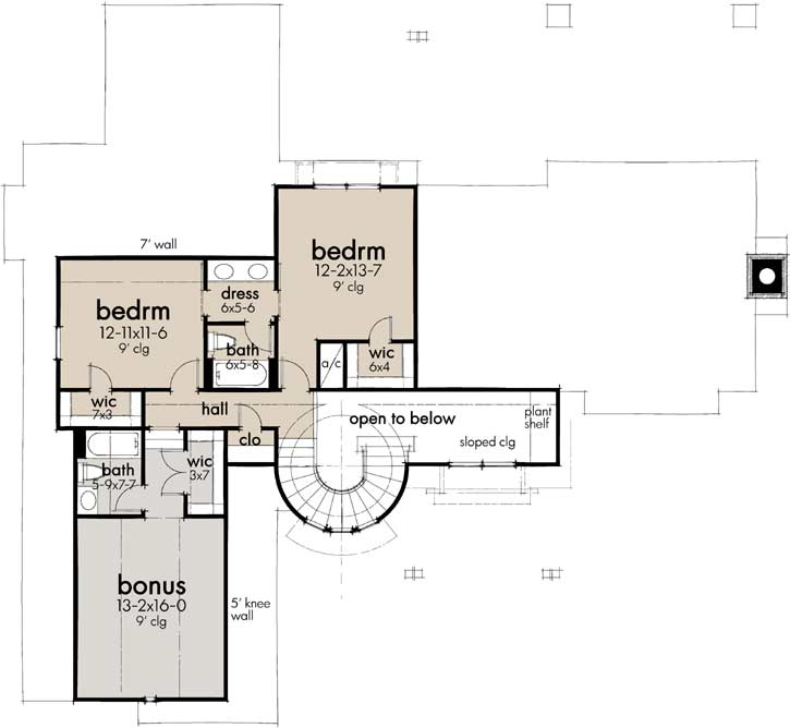 Upper/Second Floor Plan: 61-218