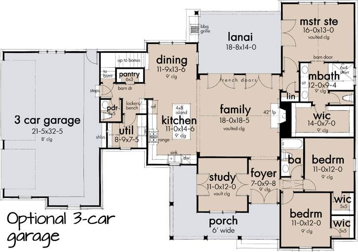 Modern-farmhouse Style House Plans 61-219